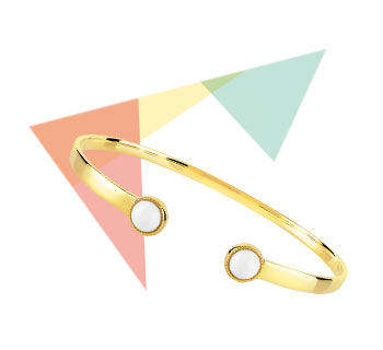> Bracelet doré agate