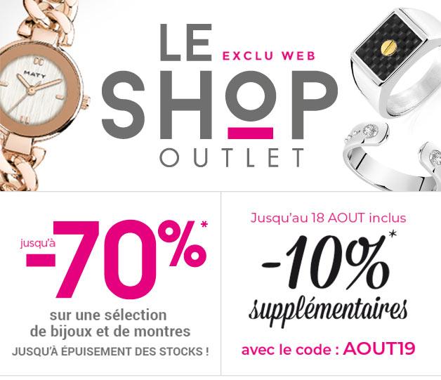 Le Shop Outlet - Exclu Web - Jusqu'à -70%* et -10%* supplémentaires