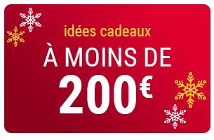 idées cadeau à moins de 200€