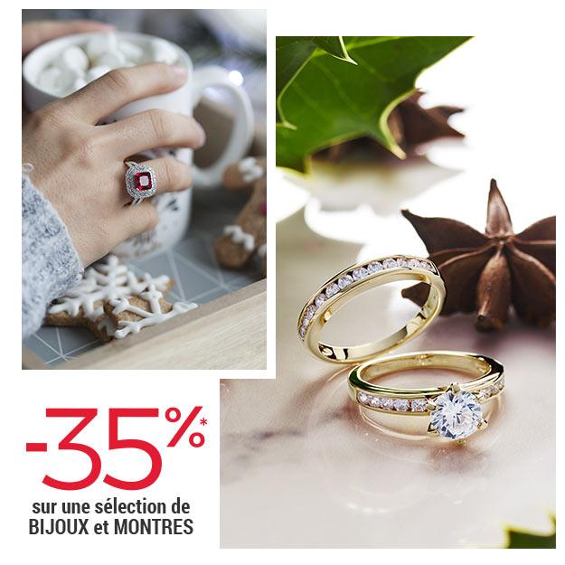 -35% sur une sélection de bijoux et montres